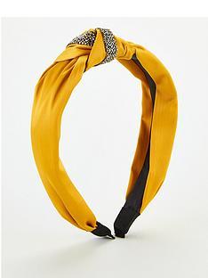 michelle-keegan-trim-knot-headband-mustard