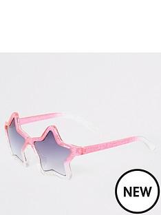 dc90dfe4d9bd River Island Mini Girls Ombre Glitter Star Sunglasses - Pink