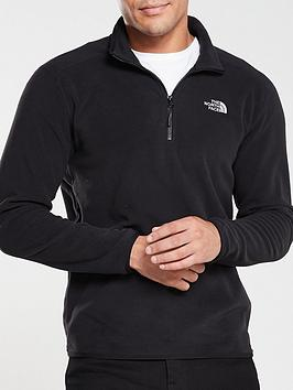the-north-face-100-glacier-14-zip-fleece-black