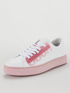 hugo-mayfair-low-cut-logo-rubber-sole-trainers-whitepink