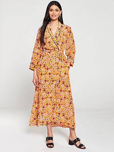hugo-kerlina-floral-print-wrap-dress-orange