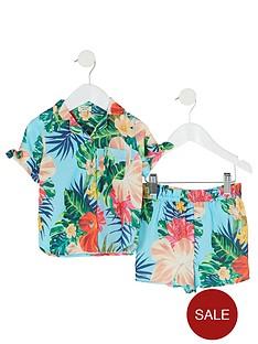 river-island-mini-girls-tropical-print-shirt-outfit-blue
