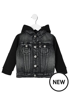 river-island-mini-mini-boys-hooded-denim-jacket-grey