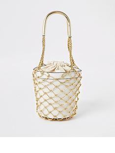 river-island-river-island-metallic-straw-bucket-bag-beige