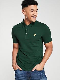 lyle-scott-plain-polo-shirt-jade-green