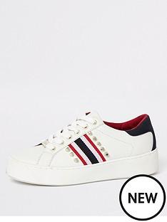 river-island-river-island-stud-stripe-trainers-white