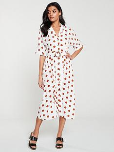 v-by-very-button-frontnbspbucklenbspdetail-midi-dress-spotprint