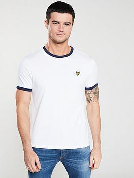 lyle-scott-ringer-t-shirt-white