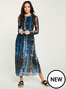 v-by-very-mesh-tie-die-midi-dress-multi
