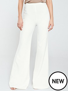 a6af18353fbe V by Very Premium Wide Leg Trouser - Ivory