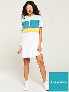 wrangler-rainbow-polo-dress-white