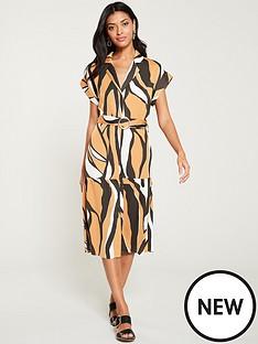 308f95a2ca River Island River Island Belted Shirt Dress-yellow Zebra