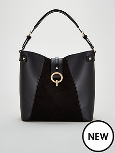 v-by-very-jinnie-tote-bag-with-gold-clasp-black
