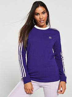 adidas-originals-3-stripe-long-sleeve-tee-purplenbsp