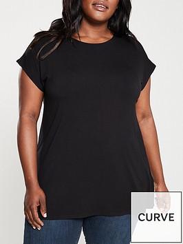 v-by-very-curve-valuenbspbatwingnbspsleeve-t-shirt-black