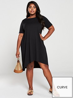 v-by-very-curve-dipped-hem-t-shirt-dress-black