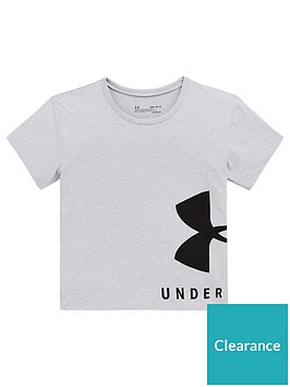 under-armour-girls-sportstyle-tee-grey