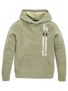 under-armour-childrens-rival-wordmark-hoodie-khaki