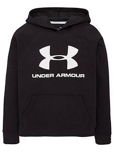 under-armour-rival-logo-hoodie-blackwhite