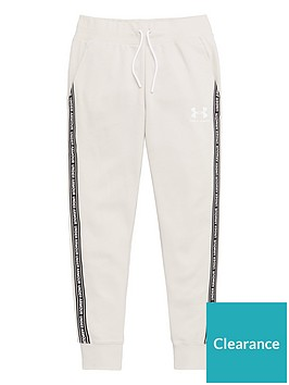 under-armour-girls-sportstyle-fleece-pants-oatmeal
