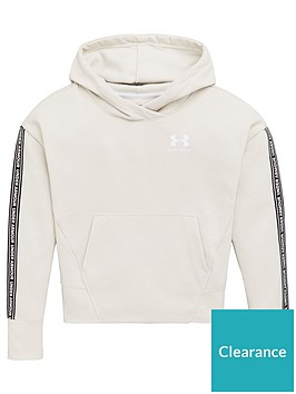 under-armour-girls-sportstyle-fleece-hoodie-oatmeal