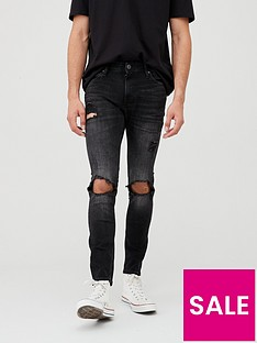 jack-jones-super-skinny-rip-amp-repair-jeans-black