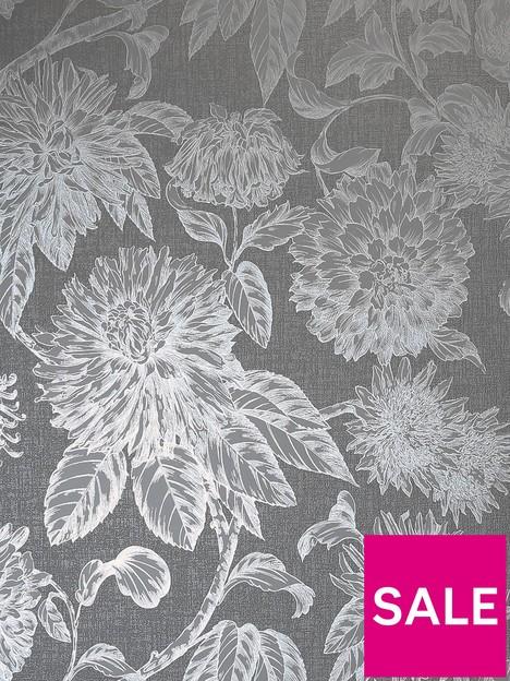 arthouse-luxe-botanica-gunmetal-and-silver-wallpaper
