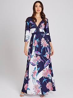 little-mistress-floral-printed-lace-trim-maxi-dress-multi