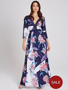 little-mistress-floral-printed-lace-trim-maxi-dress-multi