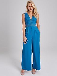 little-mistress-lace-trim-jumpsuit-blue