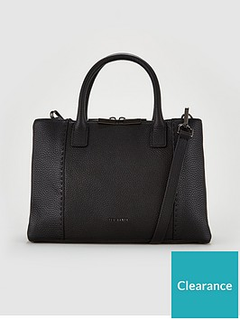 ted-baker-jilion-exotic-faceted-bar-leather-tote-bag-black