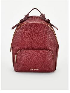 ted-baker-orilyy-knotted-handle-leather-backpack-oxblood