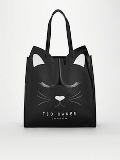 ted-baker-meowcon-cat-large-icon-bag-black