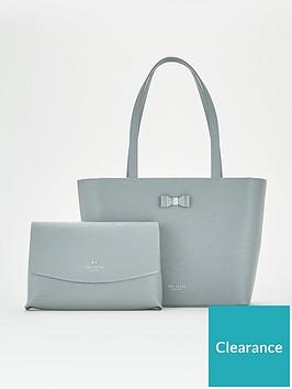 ted-baker-deannah-bow-detail-shopper-mid-grey