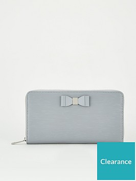 ted-baker-rouxi-bow-detail-zip-around-matinee-purse-mid-grey