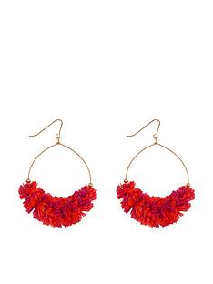 accessorize-rara-raffia-hoops-orange