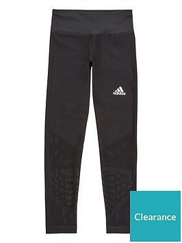 adidas-junior-training-mesh-patterned-leggings-black
