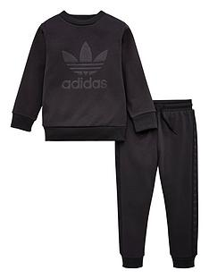 adidas-originals-infant-debossed-crew-suit-black