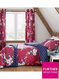 catherine-lansfield-nbspcanterbury-bedspread-throw-raspberry