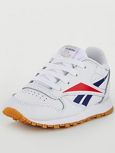 reebok-classic-leather-infant-trainers-whitenavyred