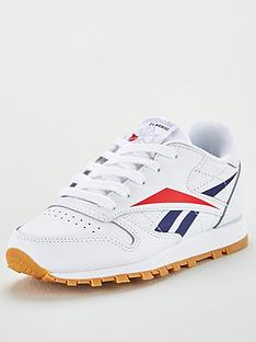 reebok-classic-leather-childrens-trainers-whitenavyred