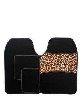streetwize-accessories-4-piece-leopard-print-car-mat-set