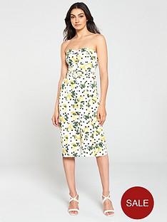 oasis-lemon-spot-cotton-dress-multi-natural
