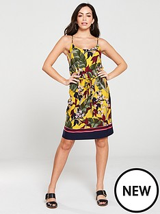 oasis-bali-tropical-jersey-cami-dress-yellow