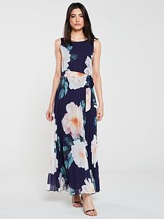 wallis-spring-bloom-pleat-maxi-dress-ink