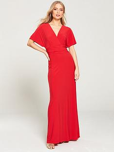 v-by-very-ruchednbspwaist-wrap-front-itynbspmaxi-dress-red
