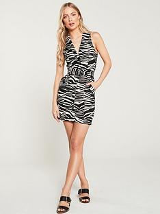 river-island-river-island-belted-button-detail-bodycon-dress--zebra