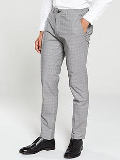 ted-baker-checked-trousers-grey