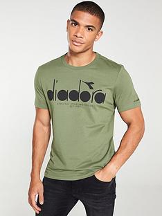 diadora-big-logo-t-shirt-khaki