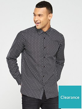 ted-baker-long-sleeve-geo-print-shirt-black